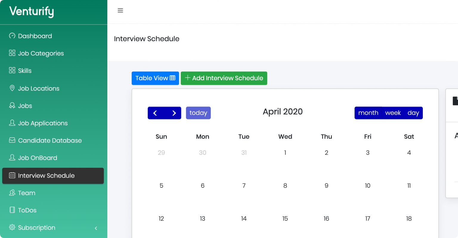 Schedule Interviews